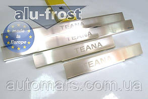 Накладки на пороги Nissan Teana 2007+