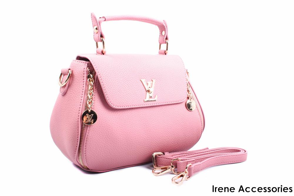 Элегантная женская сумка Louis Vuitton цвет светло-розовый