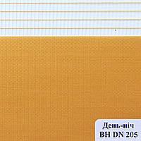 Рулонные шторы День Ночь Ткань Сахара ВН DN 205 Оранжевый