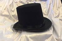 Карнавальная шляпа цилиндр черный