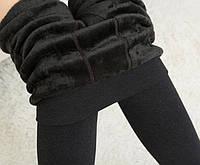 Лосины женские зимние черные  на меху, фото 1