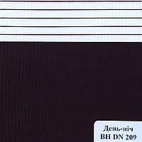 Рулонные шторы День Ночь Ткань Сахара ВН DN 209 Пурпурно-чёрный