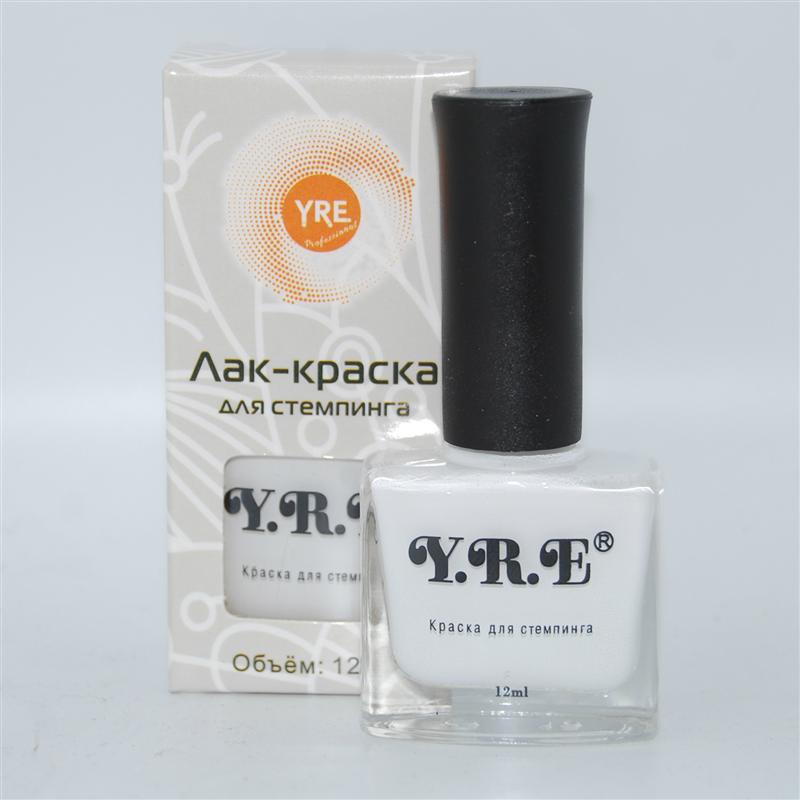 Лак-краска YRE для стемпинга белая, 12 мл