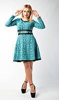 """Модное молодежное платье """"Иней"""" бирюзового цвета."""