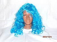 """Парик женский голубые волосы """"Мальвина"""""""