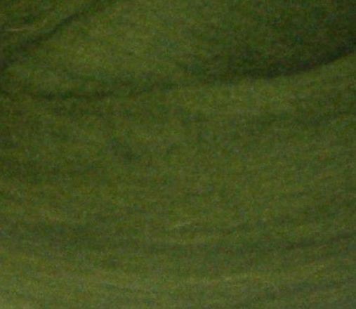 Толстая, крупная пряжа, 100% шерсть овечья для валяния, 50г. Цвет: Болотный. 25-26 мкрн. Топс. Гребенная лента