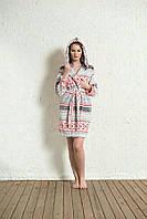Теплый женский халатик с орнаментом  Vienetta Secret