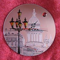 Часы с фото круглые зеркальные перламутровые, фото 1