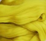 Толстая, крупная пряжа, 100% шерсть овечья для валяния, 50г. Цвет: Лимон. 25-26 мкрн. Топс. Гребенная лента