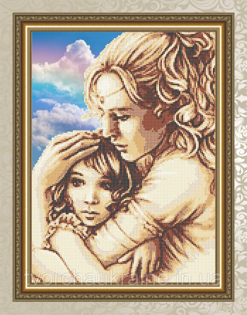 Авторская канва для вышивки бисером «Мама и дочь»