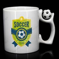 Печать фото на кружках с футбольным мячиком