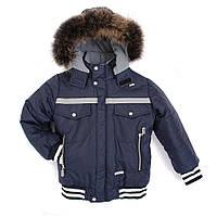 Суперкачественные зимние куртки для мальчишек, 2-7 лет с натуральных мехом