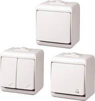 Выключатель ETI 1-клавишный (IP44) VHE-1, 4668000