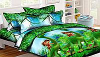 Детское постельное белье полуторное Динозавр подростковый
