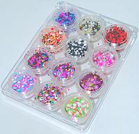 Набор конфети в банке 12шт NDKS-00 YRE