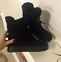 Ботинки зима PPlein чёрные натуральные