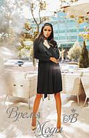 Чёрное пальто с поясом, кашемировое. Осень/весна. 6 цветов