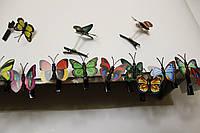 Детская заколка Бабочка на пружинке