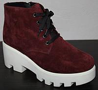 Женские ботинки весна молодежные замшевые, женская обувь весна замшевая от производителя модель ЭД2В