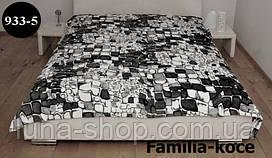 Плед из микрофибры Камни серые, 160*210, 200*220, Польша