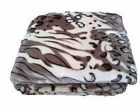 Плед из микрофибры Тигр серый, 160*210, 200*220, Польша