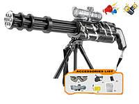 Игрушечный пулемет F7-A на разрывных гелевых пулях, копия пулемета Гатлинга, стреляет одиночными и очередью