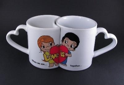 Печать фото на чашках Love парных