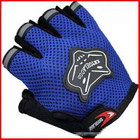 Перчатки велосипедные FOX (синие)