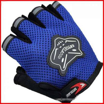 Перчатки велосипедные FOX (синие), фото 2