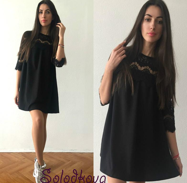 Платье черное свободное 7