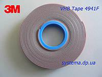 3M VHB (Very High Bond) 4941F - Двухстороняя клейкая, особо прочная, лента 3M, 6,0х1,1 мм, рулон 5 м
