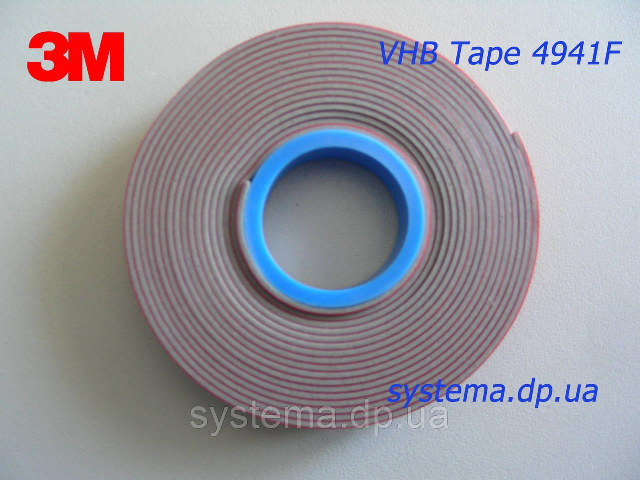 3M™ VHB™ 4941F - Двухсторонний монтажный скотч 3M (акриловый клей в ленте), 6,0х1,1 мм, рулон 5 м