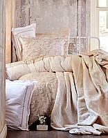 Постельное белье с пледом и покрывалом KARACA HOME TIMELESS TOPRAK