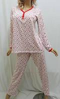 Пижама байковая с длинными брюками теплая