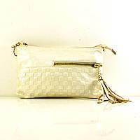 Кожаная сумочка S20-8611-05 белый