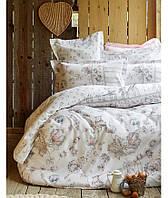 Комплект постельного белья 200х220   KARACA HOME 2017 сатин FANETTA MAVI