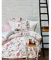 Комплект постельного белья 200х220   KARACA HOME 2017 сатин GLORIA PUDRA