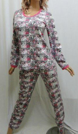 Пижама женская с длинным рукавом и длинными брюками