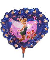 Воздушный шар из фольги на палочке Фея Динь Динь