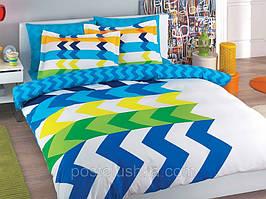 Комплект постельного белья Tac Percale Marco голубой