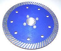 "Алмазный диск для резки гранита с фланцем,""BLUE-TURBO"" 125x2,2/1,3x10x22F-M14"