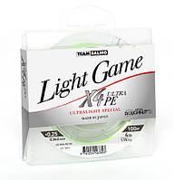 Шнур Team Salmo Light Game X4 Ultra PE 100 m (5014) №0,25 (0,042мм) 1,74  кг (4lb)