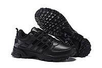 Мужские кроссовки Adidas Anzit FG Leather натуральная кожа черные