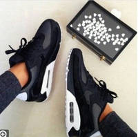 "Кроссовки Nike Air Max 90 Premium ""Black/White"