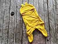 Универсальный махровый спальник-человечек конверт кокон для мальчика или девочки с 0 до 12 месяцев ТМ MagBaby Желтый