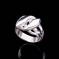 "Серебряное кольцо ""Две змеи"""
