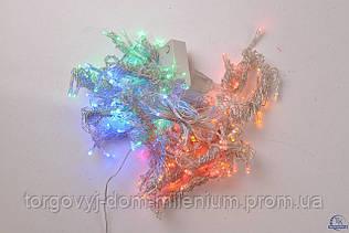 Гирлянда  на 180 LED лампочек цветные огни (дождик) 180 LED