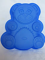 Силиконовая формочка для выпечки Медвежонок, 110/100 (цена за 1 шт. + 10 гр.), фото 1