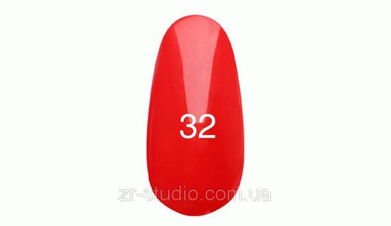 Гель лак Kodi professional 7мл. №32 (Светло-красный. Эмаль)