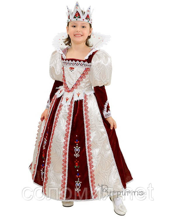 Детский костюм для девочки Королева бордо